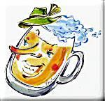 Lachender Bierkrug aus Bayerische Witze