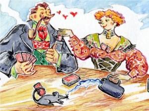 Bayerisches Hochzeitspaar - Bayerische Witze